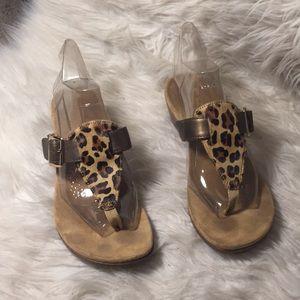 Vionic leopard wedges